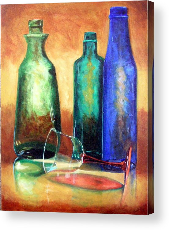 Oil Acrylic Print featuring the painting The Party's Over by Linda Hiller