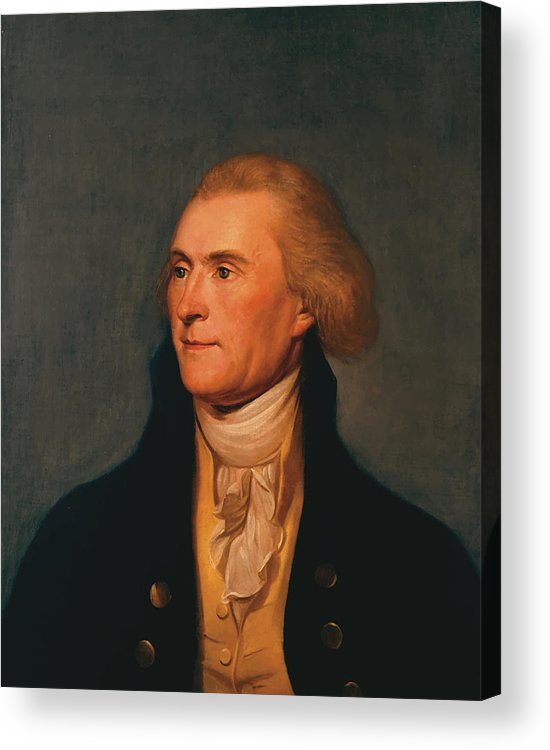 Thomas Jefferson Acrylic Print featuring the painting Thomas Jefferson by War Is Hell Store