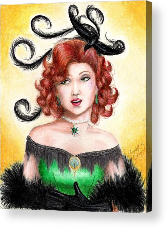 Saloon Acrylic Print featuring the drawing Tonya by Scarlett Royal