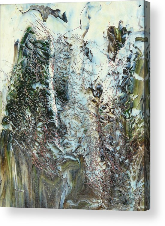Forest Acrylic Print featuring the glass art Unrest At Dawn by Greg Gierlowski