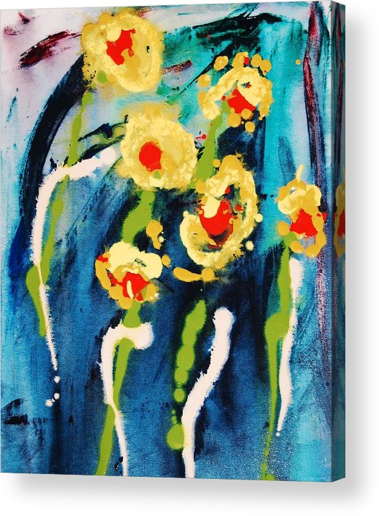 Abstract Acrylic Print featuring the painting Urban Garden by Lauren Luna
