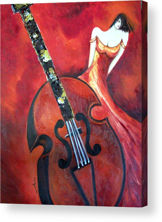 Music Acrylic Print featuring the painting Ve La Musica by Niki Sands