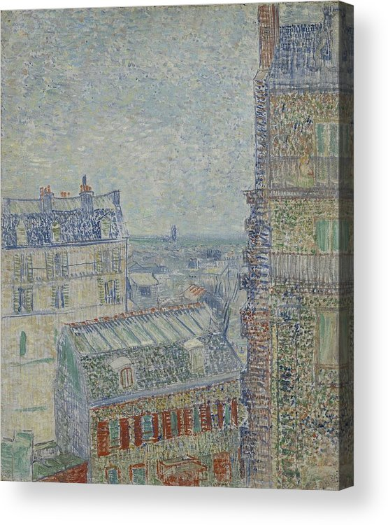 Nature Acrylic Print featuring the painting View From Theo S Apartment Paris, March - April 1887 Vincent Van Gogh 1853 1890 by Artistic Panda