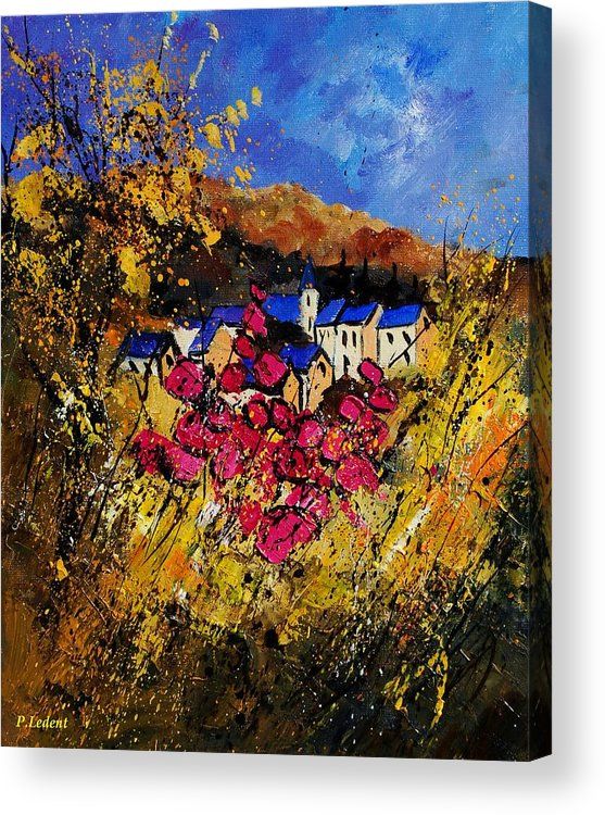 Flowers Acrylic Print featuring the painting Village 450808 by Pol Ledent