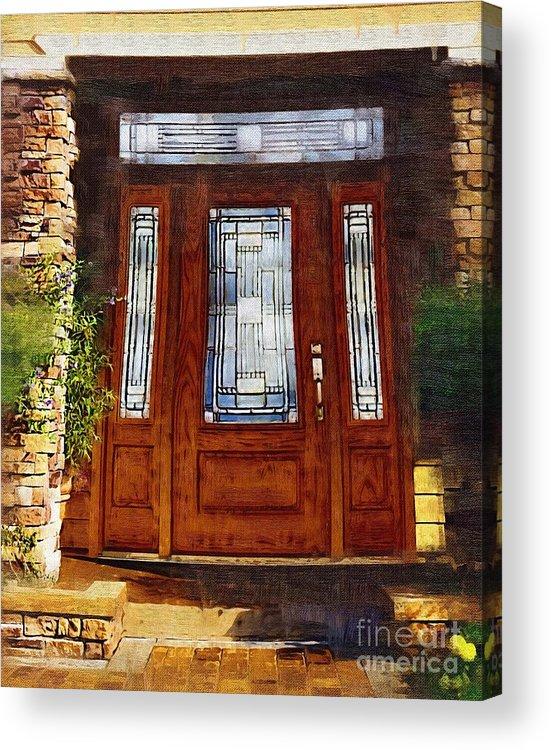 Doors Acrylic Print featuring the painting Welcome by Deborah Selib-Haig DMacq