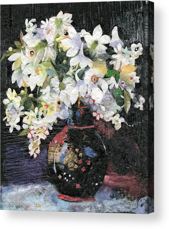 Limited Edition Prints Acrylic Print featuring the painting White Celebration by Nira Schwartz
