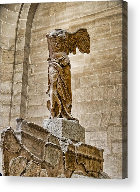 France Acrylic Print featuring the photograph Winged Victory by Jon Berghoff