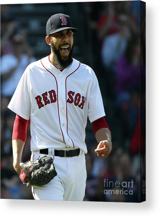 David Price Acrylic Print featuring the photograph Tampa Bay Rays V Boston Red Sox 5 by Jim Rogash