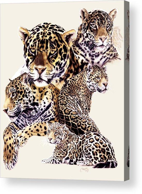 Jaguar Acrylic Print featuring the drawing Burn by Barbara Keith