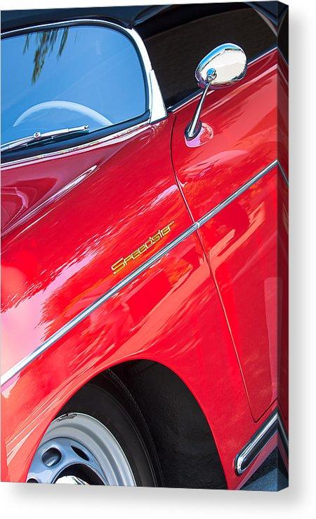 1955 Porsche 356 Speedster Acrylic Print featuring the photograph 1955 Porsche 356 Speedster by Jill Reger