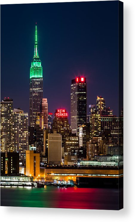 Ireland Acrylic Print featuring the photograph Empire State Building On Saint Patrick's Day by Mihai Andritoiu