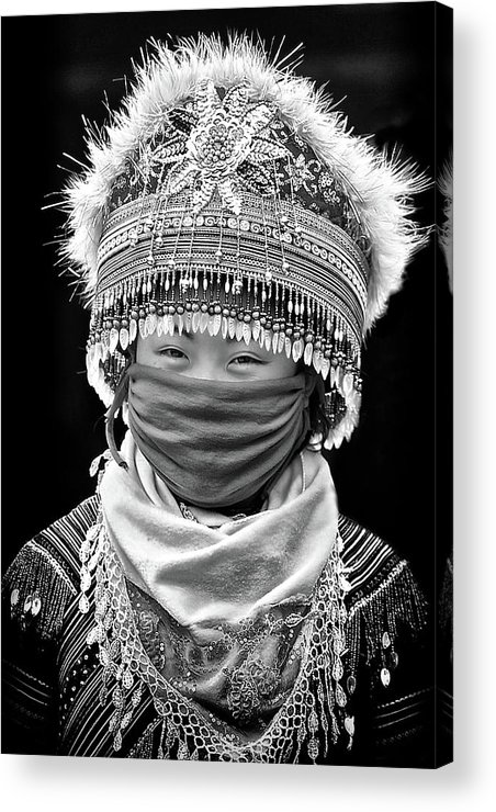 Pha Long Market Acrylic Print featuring the photograph H'mong... by John Moulds