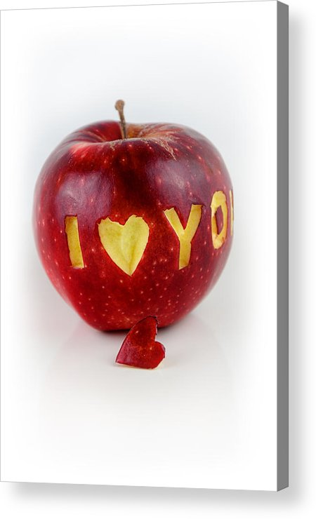 Love Acrylic Print featuring the photograph I Love You by Gynt