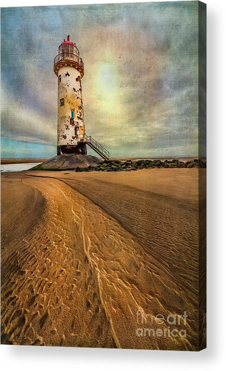British Acrylic Print featuring the photograph Point Of Ayre Lighthouse by Adrian Evans