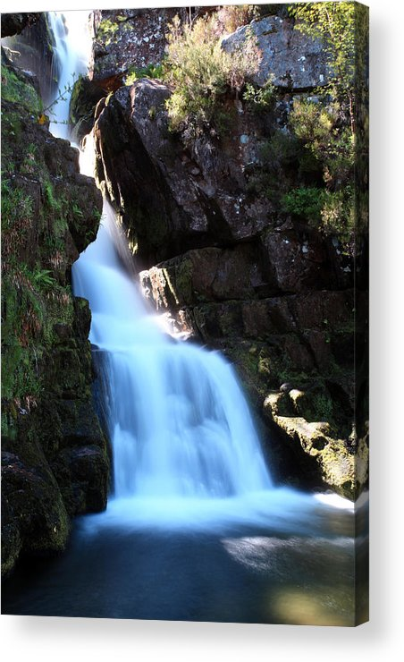 Scotland Acrylic Print featuring the photograph Scotish Waterfall by Ollie Taylor