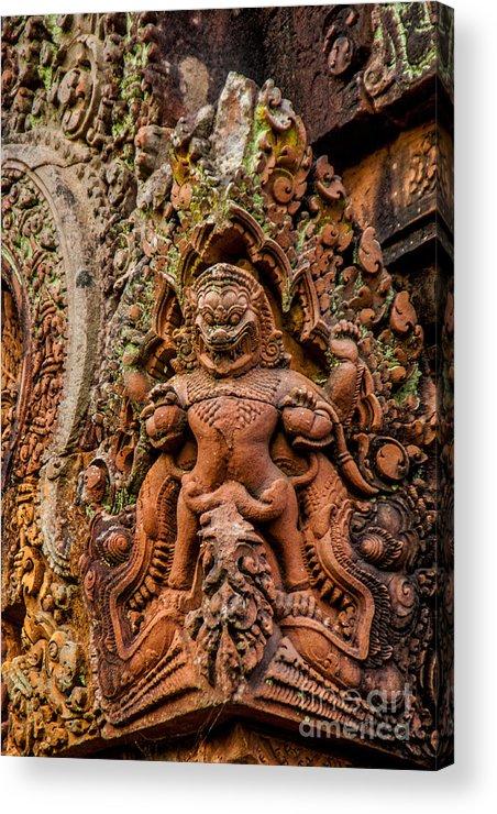 Cambodia Acrylic Print featuring the photograph The Dragon by Roberta Bragan