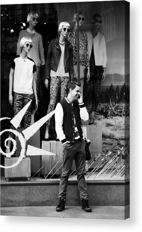 Jezcself Acrylic Print featuring the photograph We Can Hear You by Jez C Self