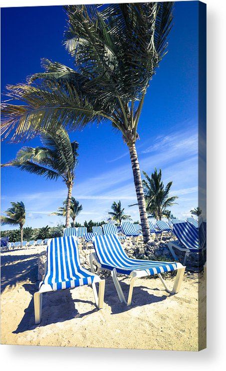Ocean Acrylic Print featuring the digital art Windy Day At The Beach by Susan Stone