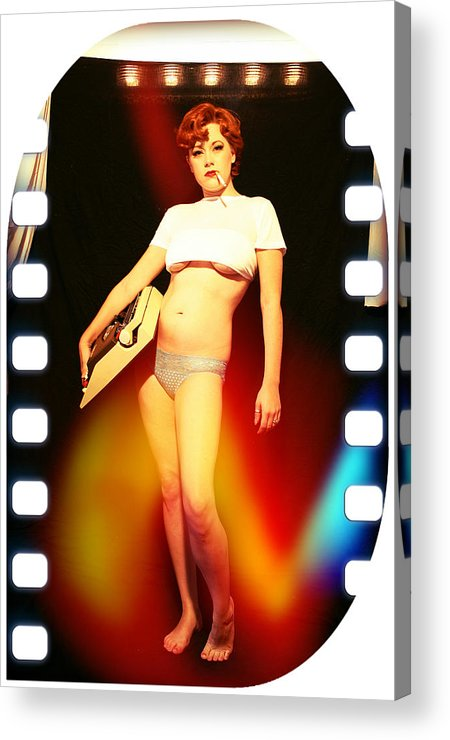 Typewriter Acrylic Print featuring the photograph Typewriter Erotica by Eric D Lough
