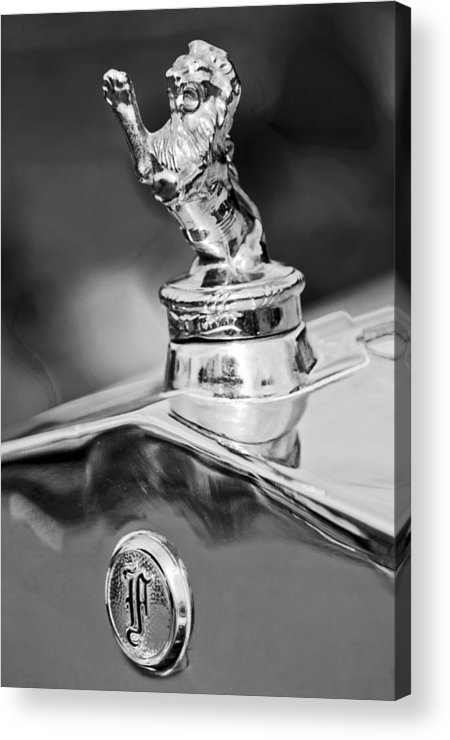 1927 Franklin Acrylic Print featuring the photograph 1927 Franklin Sedan Hood Ornament 2 by Jill Reger