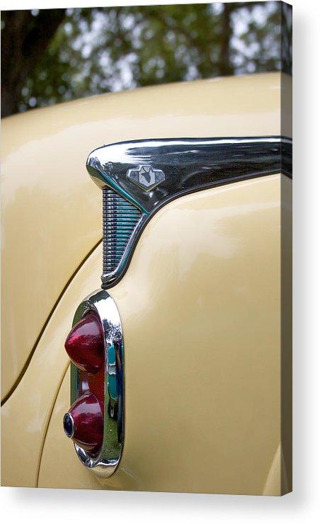 1952 Buick Eight Photographs Acrylic Print featuring the photograph 1952 Buick Eight Tail Light by Brooke Roby
