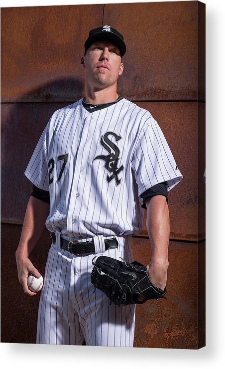 Media Day Acrylic Print featuring the photograph Chicago Whte Sox Photo Day 2 by Rob Tringali