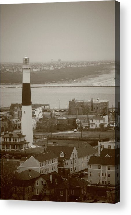 Absecon Acrylic Print featuring the photograph Lighthouse - Atlantic City by Frank Romeo