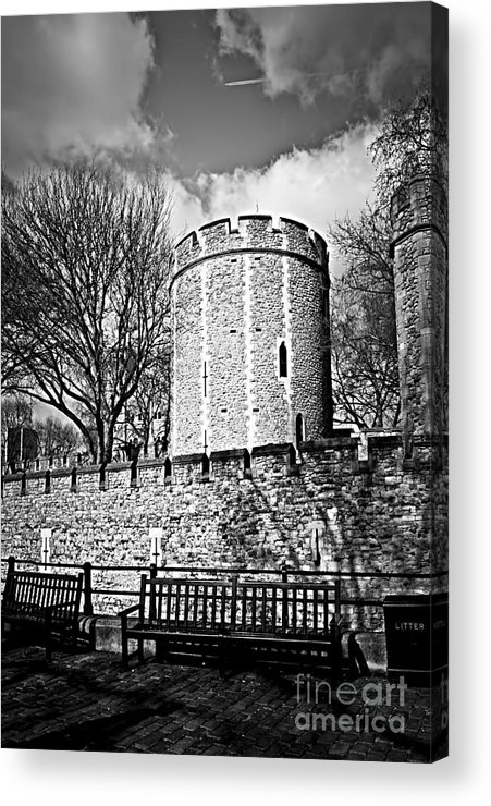 Tower Acrylic Print featuring the photograph Tower Of London by Elena Elisseeva