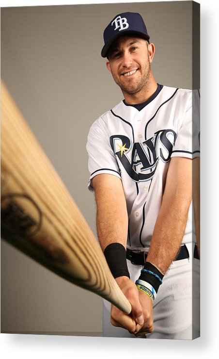 Media Day Acrylic Print featuring the photograph 2014 Tampa Bay Rays Photo Day 2014 by Robbie Rogers