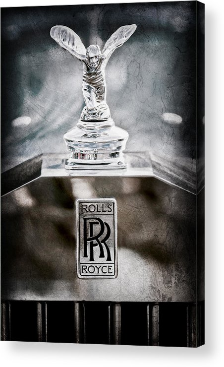 1952 Rolls-royce Hood Ornament Acrylic Print featuring the photograph 1952 Rolls-royce Hood Ornament by Jill Reger