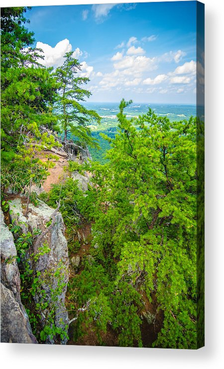 Aerial Acrylic Print featuring the photograph Beautiful Aerial Landscape Views From Crowders Mountain North Ca by Alex Grichenko