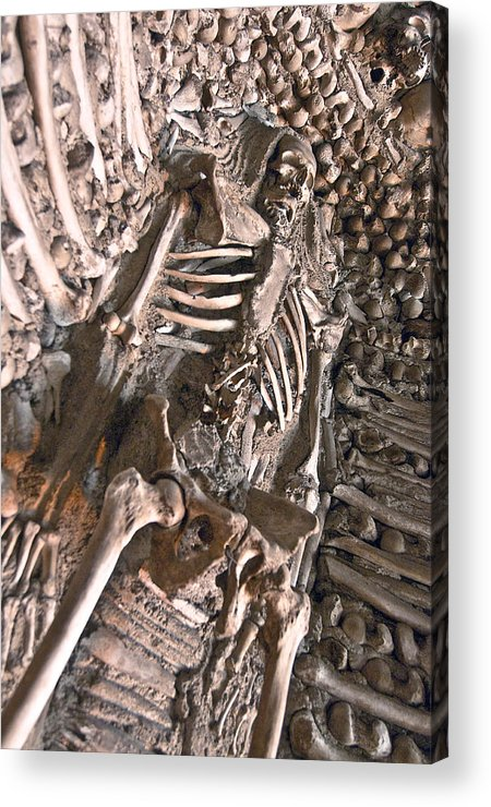 Chapel Of Bones Acrylic Print featuring the photograph Chapel Of Bones Campo Maior Portugal 2011 by John Hanou