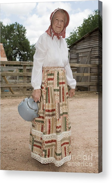 70s Acrylic Print featuring the photograph Farm Woman by Jim Pruitt