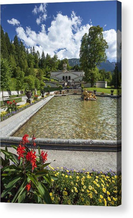 Linderhof Acrylic Print featuring the photograph Linderhof And Royal Garden by Radka Linkova