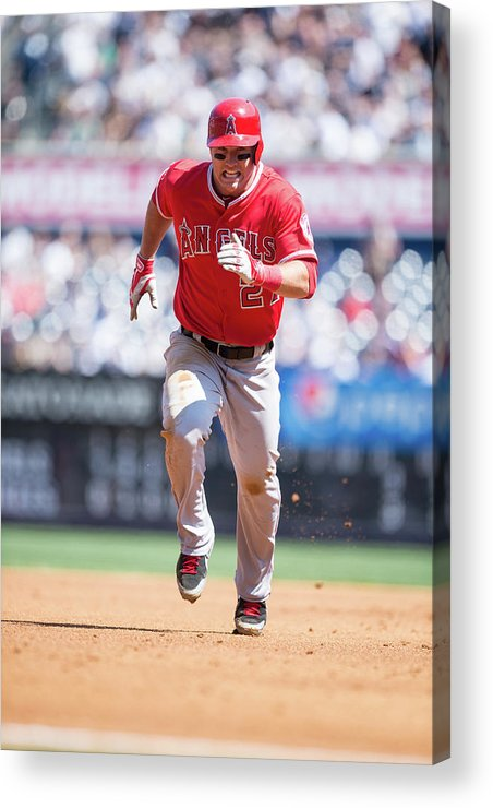 People Acrylic Print featuring the photograph Los Angeles Angels Of Anaheim V New 3 by Rob Tringali