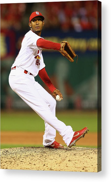 St. Louis Cardinals Acrylic Print featuring the photograph San Francisco Giants V St. Louis by Dilip Vishwanat
