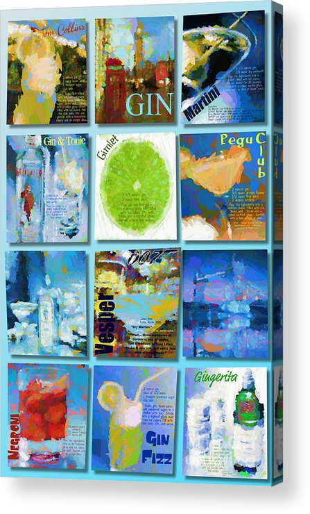 Gin Acrylic Print featuring the digital art Gin by Laura Toth