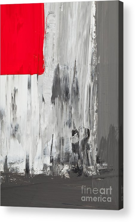 Red Acrylic Print featuring the painting Love And Shadow Abstract by Shawn Hempel