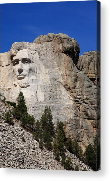 Abe Acrylic Print featuring the photograph Mount Rushmore by Frank Romeo