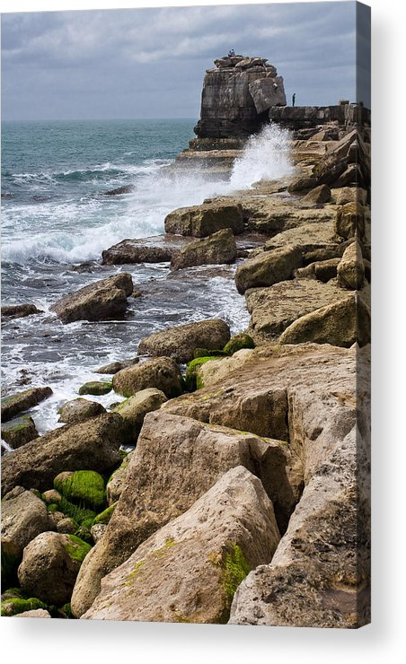 Granite Acrylic Print featuring the photograph On The Rocks by Shirley Mitchell