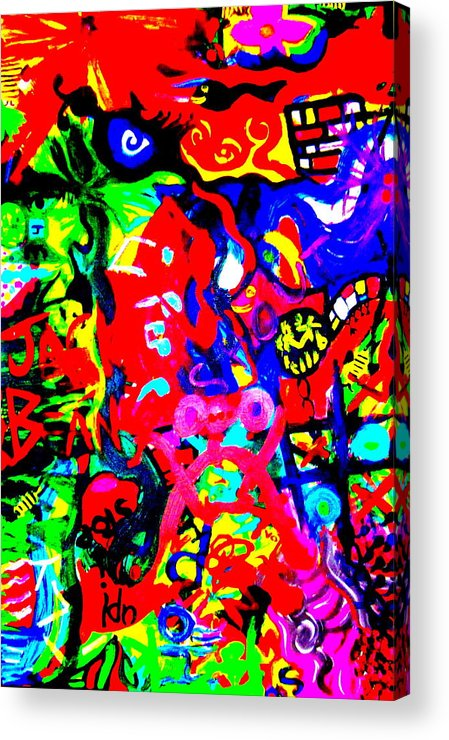 Art Acrylic Print featuring the painting Modern Abstract Painting Original Canvas Art Young Life By Zee Clark by Zee Clark