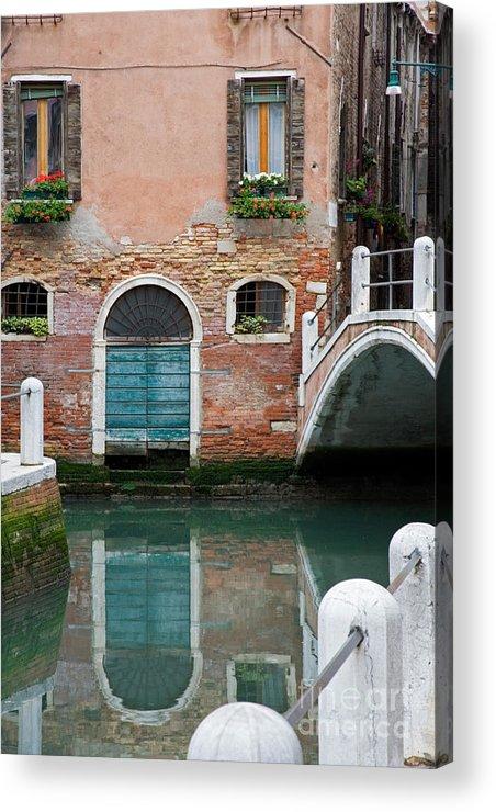 Canal Acrylic Print featuring the photograph Venice by David Davis