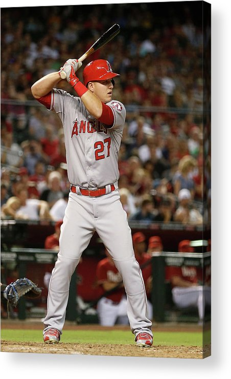 People Acrylic Print featuring the photograph Los Angeles Angels Of Anaheim V Arizona 8 by Christian Petersen