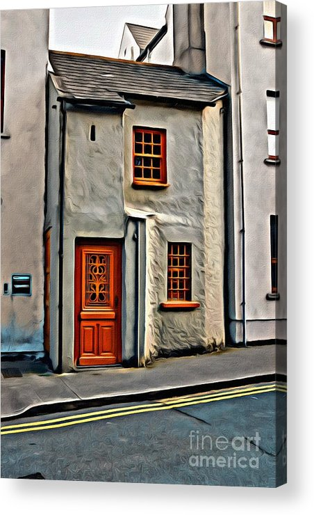 Red Door Acrylic Print featuring the photograph 9298 by Charles Cunningham