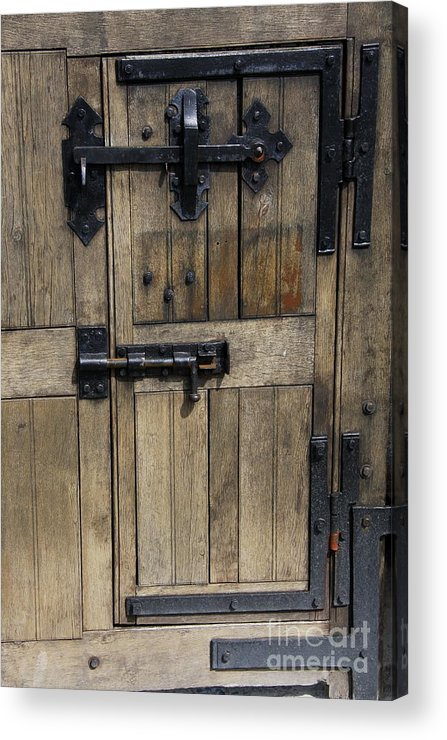 Cahir Castle Acrylic Print featuring the photograph A Cahir Castle Door by Christiane Schulze Art And Photography
