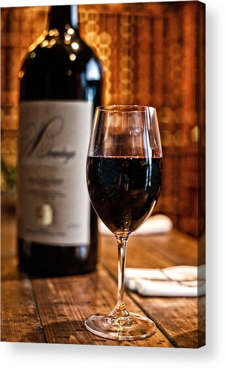 Food Acrylic Print featuring the photograph A Fine Red by Shanna Gillette