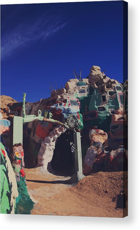 Salvation Mountain Acrylic Print featuring the photograph A Loving Entrance by Laurie Search
