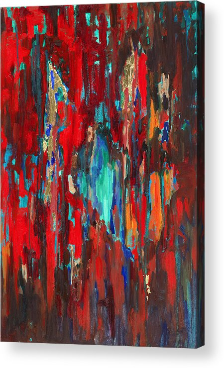 Abstract Art Acrylic Print featuring the painting A New Beginning by Billie Colson