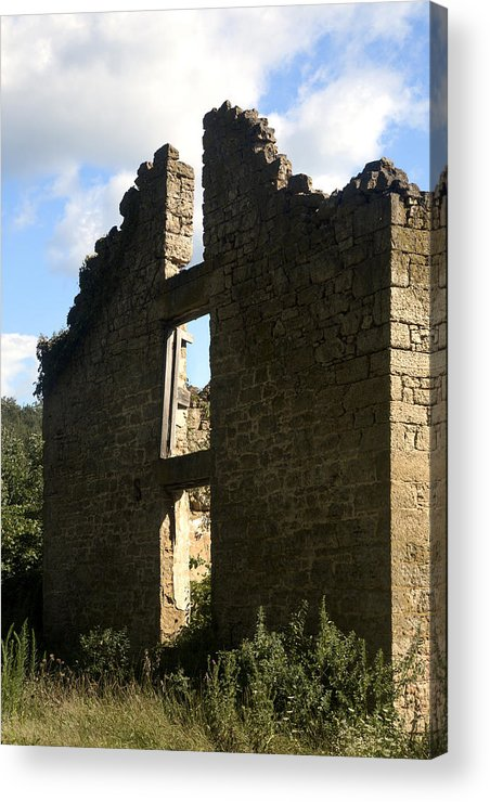 House Acrylic Print featuring the photograph Abandon Stone House 5 by Gerald Marella