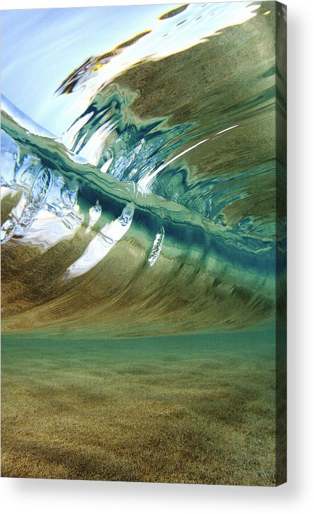 Abstract Acrylic Print featuring the photograph Abstract Underwater 2 by Vince Cavataio - Printscapes